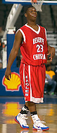 """2/11/06 -- Omaha, NeReserve Christian's Demond """"Tweety"""" Carter  at The Omaha Shootout, a High School Basketball tournament featuring some of the best prospects at the Qwest Center Omaha...(Photo by Chris Machian/Prarie Pixel Group)."""