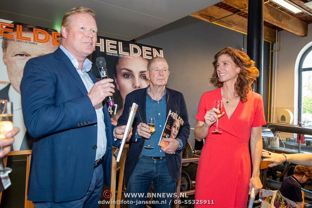 NLD/Amsterdam/201905229 - 10-jarig jubileum van Helden, Giovani van Bronckhorst, Frits Barend, Ronald Koeman en Barbara Barend