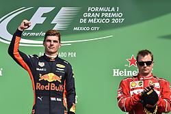 October 29, 2017 - Mexico-City, Mexico - Motorsports: FIA Formula One World Championship 2017, Grand Prix of Mexico, .#33 Max Verstappen (NLD, Red Bull Racing), #7 Kimi Raikkonen (FIN, Scuderia Ferrari) (Credit Image: © Hoch Zwei via ZUMA Wire)