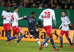 Football: Germany, DFB Cup<br /> (Hamburger SV, HSV) - <br /> Davild Alaba (FC Bayern Muenchen)