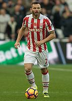 Football - 2016 / 2017 Premier League - West Ham United vs. Stoke City<br /> <br /> <br /> Phillip Bardsley of Stoke City at The London Stadium.<br /> <br /> COLORSPORT/DANIEL BEARHAM