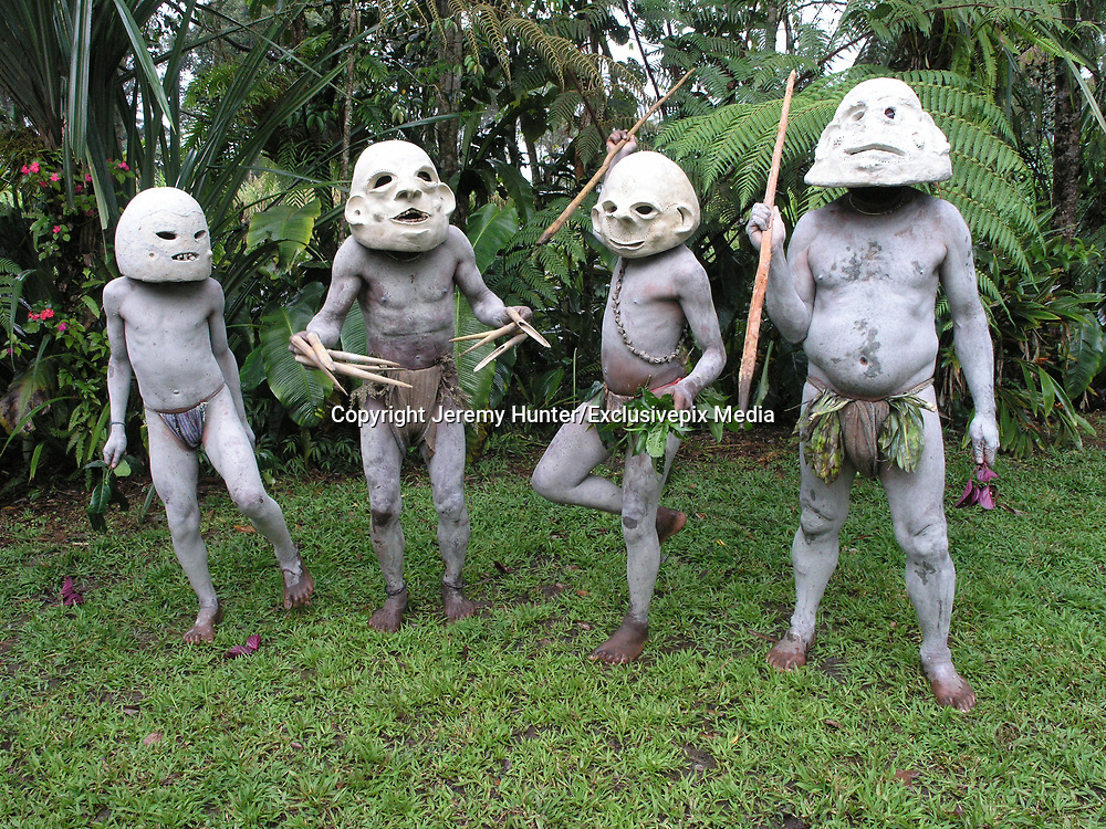 """THE MUDMEN OF THE WESTERN HIGHLANDS<br /> <br /> PAPUA NEW GUINEA is a land of Wig-Schools, Wig-Teachers and WigMen, impenetrable rain-forests, sweet potatoes and pigs. A land of the Cus-Cus, the Cassowary and thirty-eight species of Birds of Paradise.<br /> <br /> A land without sheep, goats, cows or milk. A land where there are no donkeys, horses or mules. No bicycles, mopeds and few cars; virtually no restaurants, bars, shops, electricity or roads. It is a land where there is no recreational sex, where a new-born girl is called a Shovel, a boy an Axe and where many adults have no birth certificates. It is perhaps one of the most untouched lands on earth.<br /> <br />  This bizarre way of life is found in the Highlands of Papua New Guinea, a country comprising more than 2000 indigeneous clans, including the Mudmen of the Waghi Valley.  To find this clan, you need to travel  to the Highlands town of Mt Hagen. Although it's the third largest town in the country it has a reputation of being """"the wild frontier' of the Highlands and more often is referred to as simply Hagen, a German name that acknowledges the presence of Lutheran missionaries who settled in the area almost a century ago. Compared with the intense heat and humidity of the coastal region, Hagen has a comfortable alpine climate and though it rains an average of 3800mm a year, there are few mosquitoes and consequently no malaria. Throughout Papua New Guinea, language is an issue. More than 800 different languages are spoken, 12% of the world's indigeneous languages, and very often adjoining clans are unable to understand the language spoken by their neighbours just a few kilometres away. Some of these languages are spoken by just 5000. <br /> <br /> For centuries the Highlands peoples of Papua New Guinea fought over land, women and pigs. Sorcery and battle skills could elevate a clan to Bigmanship, where the bigger the 'presentation', the bigger the man. Clans therefore would paint their bodies and create"""
