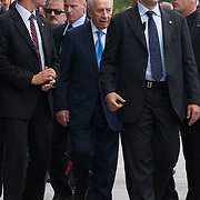 VENICE, ITALY - JUNE 03:  Israel President Shimon Peres leaves the Venice Biennale under heavy guard on June 3, 2011 in Venice, Italy.  This year's Biennale is the 54th edition and will run from June 4th until 27 November. ..