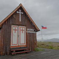 Tiny church at Cape Horn, Chile, southernmost point in South America.