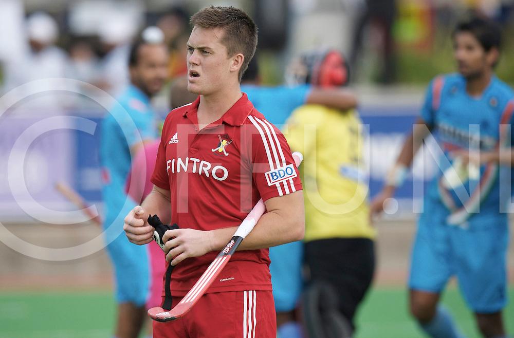MELBOURNE - Champions Trophy men 2012<br /> India v Belgium 1-0<br /> foto: Tom Boon verliest.<br /> FFU PRESS AGENCY COPYRIGHT FRANK UIJLENBROEK