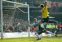 Photo: Scott Heavey<br />Watford V Burnley. 09/03/03.<br />Tommy Smith squanders a one on one chance early in the second half during this FA Cup quarter final between these two first division teams.