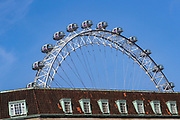 April 7, 2020, London, England, United Kingdom: A detailed view of London Eye from the St Thomas' Hospital where British Prime Minister Boris Johnson was moved to intensive care after his coronavirus symptoms worsened in London, Tuesday, April 7, 2020. Johnson was admitted to St Thomas' hospital in central London on Sunday after his coronavirus symptoms persisted for 10 days. Having been in the hospital for tests and observation, his doctors advised that he be admitted to intensive care on Monday evening. The new coronavirus causes mild or moderate symptoms for most people, but for some, especially older adults and people with existing health problems, it can cause more severe illness or death. (Credit Image: © Vedat Xhymshiti/ZUMA Wire)