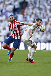 Real Madrid´s and Atletico de Madrid´s during La Liga Real Madrid v Atletico de Madrid football match at Santiago Bernabeu Stadium in Madrid, Spain. February 01, 2020. Photo by David Jar/AlterPhotos/ABACAPRESS.COM