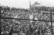 Supports watching the All Ireland Senior Gaelic Football Championship Final Cork v Galway in Croke Park on the 23rd September 1973. Cork 3-17 Galway 2-13.