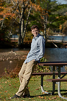 Mitchell Berry senior portrait session Ellacoya/Ames Farm, Gilford, NH.    ©2021 Karen Bobotas Photographer