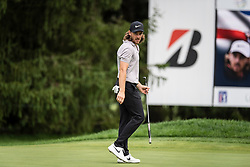 August 2, 2018 - Akron, OH, U.S. - AKRON, OH - AUGUST 02:  Tommy Fleetwood on the 15th green during the first round of the WGC-Bridgestone Invitational on August 2, 2018 at the Firestone Country Club South Course in Akron, Ohio. (Photo by Shelley Lipton/Icon Sportswire) (Credit Image: © Shelley Lipton/Icon SMI via ZUMA Press)