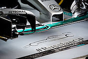 October 8, 2015: Russian GP 2015: Mercedes garage floor detail