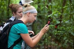 Maggie & Rachel Photographing Plant, Tiputini