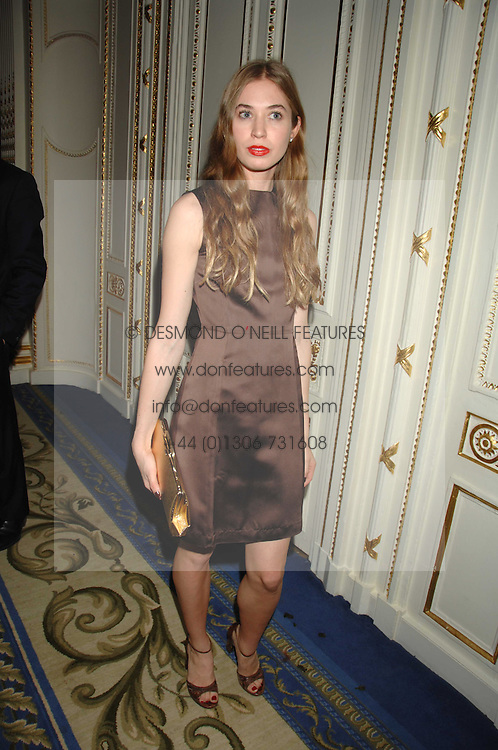 ANOUSKA BECKWITH daughter of Tamara Beckwith at a party to celebrate the launch of The Essential Party Guide held at the Mandarin Oriental Hyde Park, 66 Knightsbridge, London on 27th March 2007.<br /><br />NON EXCLUSIVE - WORLD RIGHTS