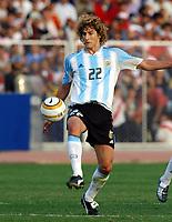 17/07/04 - CHICLAYO - PERU - COPA AMERICA PERU 2004 -<br />Argentine Player N*22 FABRICIO COLOCCINI.<br />© Gabriel Piko /Argenpress.com<br /><br /> Quarterfinals match of the Copa America<br /> 2004 - PERU (0) VS. ARGENTINA (1)<br />© Gabriel Piko /Argenpress.com