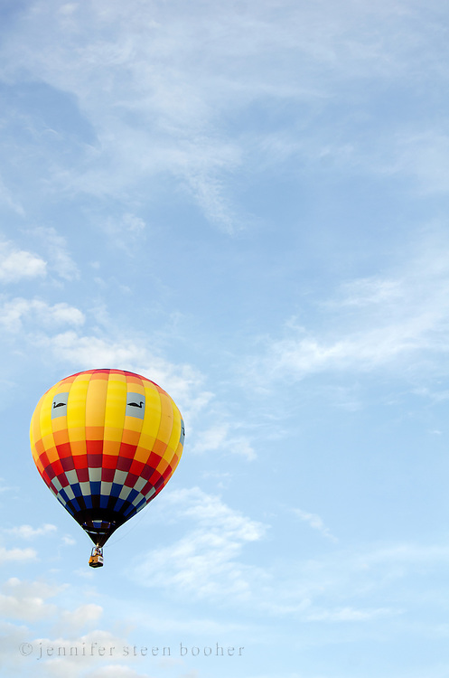 'Aerloon' in flight, Crown of Maine Balloon Fair, Presque Isle, Maine.