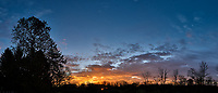 Autumn Sunrise Panorama. Composite of seven images taken with a Leica CL camera and 18 mm f/2.8 lens (ISO 200, 18 mm, f/11, 1/60 sec).