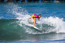 Samantha Sibley (USA) advances to the Semifinals of the 2918 Junior Women's VANS US Open of Surfing after placing second in Quarterfinal Heat 2 of Round 1 at Huntington Beach, CA, USA.
