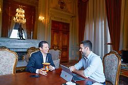 Porto Alegre, RS 16/04/2019: O prefeito Nelson Marchezan Júnior foi recebido em audiência pelo governador Eduardo Leite na manhã desta terça-feira (16), no Palácio Piratini. Foto: Jefferson Bernardes/PMPA
