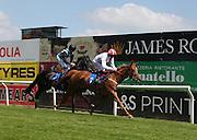 Jockey Luke Morris rides Zamani to victory in the 2.20 race at Brighton Racecourse, Brighton & Hove, United Kingdom on 10 June 2015. Photo by Bennett Dean.