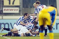 Fotball , 15. desember 2004, SC Heerenveen - SK Beveren , 15-12-2004 , UEFA Cup , Heerenveen etter 1-0 av Arnold Bruggink
