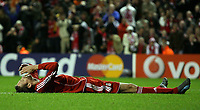 Photo: Paul Thomas/Sportsbeat Images.<br /> Liverpool v Besiktas. UEFA Champions League. 06/11/2007.<br /> <br /> Peter Crouch of Liverpool can't believe he doesn't score.