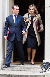 London, October 10 2017. Welsh Secretary Alun Cairns and Education Secretary Justine Greening attend the UK cabinet meeting at Downing Street. © Paul Davey