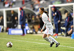 February 27, 2019 - Chester, PA, U.S. - CHESTER, PA - FEBRUARY 27: Japan Defender Risa Shimizu (22) carries the ball in the second half during the She Believes Cup game between Japan and the United States on February 27, 2019 at Talen Energy Stadium in Chester, PA. (Photo by Kyle Ross/Icon Sportswire) (Credit Image: © Kyle Ross/Icon SMI via ZUMA Press)
