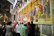 Israel, Jerusalem Old City, Interior of the Church of the Holy Sepulchre
