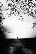 """a woman walking on a bridge.<br /> The shadow line is a trip, a trip losing myself, looking for myself.<br /> Like the romance """"the shadow line"""" by Joseph Conrad (1917).<br /> I was in Italy, England, Bosnia, Montenegro, Serbia..<br /> It isn't a reportage, it isn't a story.<br /> It is a searching.."""