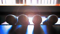 The Microphones Await The Next Karaoke Challenger