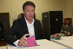 Italy, Florence - May 26, 2019.Former Italian Prime Minister Matteo Renzi casts his ballot for the European Parliament elections (Credit Image: © Fotogramma/Ropi via ZUMA Press)
