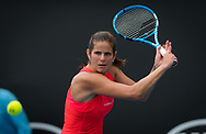 Julia Goerges of Germany in action during the first round of the 2020 Australian Open, WTA Grand Slam tennis tournament on January 20, 2020 at Melbourne Park in Melbourne, Australia - Photo Rob Prange / Spain ProSportsImages / DPPI / ProSportsImages / DPPI