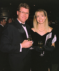 MR & MRS NICK FARR JONES, he was the captain of the 1991 World Cup winning Australian rugby team, at a dinner in London on 29th October 1997.MCP 17