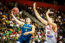 Matic Rebec of Slovenia during friendly basketball match between Slovenia and Croatia , on September 8, 2018 in Arena Zlatorog, Celje, Slovenia. Photo by Ziga Zupan / Sportida