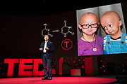 David R. Liu speaks at TED2019: Bigger Than Us. April 15 - 19, 2019, Vancouver, BC, Canada. Photo: Bret Hartman / TED