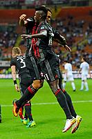Esultanza gol di Carlos Bacca Milan 1-0. Celebration goal con M'Baye Niang<br /> Milano 20-09-2016 Stadio Giuseppe Meazza - Football Calcio Serie A Milan - S.S. Lazio. Foto Giuseppe Celeste / Insidefoto