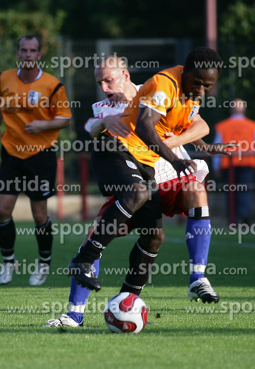 Football - soccer: germany third division, Regionalliga Nord, 2007/2008, Hamburger SV II (HSV) - 1. FC Magdeburg , Miso Brecko (HSV) , Eric Agyemang (FCM). copyright: SPORTIDA / HOCH ZWEI / Henning Angerer