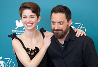 Venice, Italy, 31st August 2019, Mariana Di Girolamo and Director Pablo Larraín at the photocall for the film Ema at the 76th Venice Film Festival, Sala Grande. Credit: Doreen Kennedy/Alamy Live News