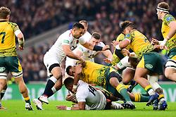 Joe Cokanasiga of England - Mandatory by-line: Dougie Allward/JMP - 24/11/2018 - RUGBY - Twickenham Stadium - London, England - England v Australia - Quilter Internationals