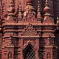Asia, India, Varanasi. Detail of the Durga Temple.