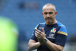 March 17, 2018 - Rome, RM, Italy - Conor O'Shea Head Coach of Italyduring the Six Nations 2018 match between Italy and Scotland at Olympic Stadium on March 17, 2018 in Rome, Italy. (Credit Image: © Danilo Di Giovanni/NurPhoto via ZUMA Press)