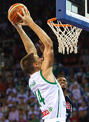 Gasper Vidmar of Slovenia during to the Preliminary Round - Group B basketball match between National teams of USA and Slovenia at 2010 FIBA World Championships on August 29, 2010 at Abdi Ipekci Arena in Istanbul, Turkey.  (Photo by Vid Ponikvar / Sportida)