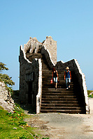 Stairway to nowhere. Sculptures and public art are found all around Niijima Island, originating from the original crave of creating 'moai' similar to the mysterious heads on Easter island.