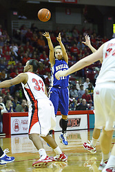 05 February 2011: Deja Mattox attempts a long two ponit shot  during an NCAA Women's basketball game between the Indiana State Sycamores and the Illinois State Redbirds at Redbird Arena in Normal Illinois.
