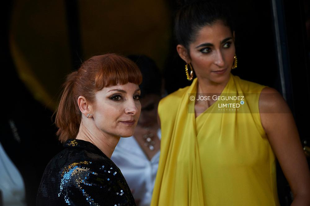 Najwa Nimri, Alba Flores attends the 'Vis A Vis' premiere at Capitol Cinema on April 19, 2018 in Madrid, Spain