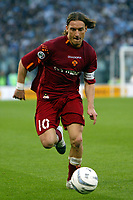 Roma 21/4/2004 Campionato Italiano Serie A <br />Lazio - Roma 1-1 <br />Francesco Totti (Roma) <br />Lazio and Roma are playing again after it was suspended on March 21, 2004, for security reasons.  <br />Foto Andrea Staccioli Graffiti