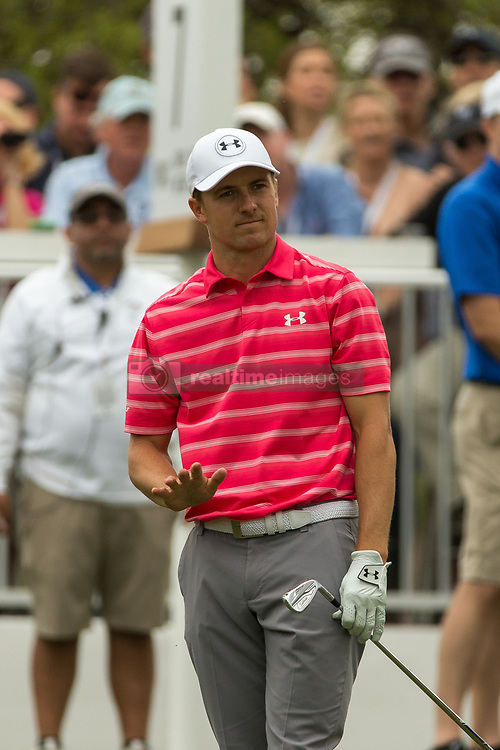 March 23, 2018 - Austin, TX, U.S. - AUSTIN, TX - MARCH 23: Jordan Spieth waves at his ball to stop during the WGC-Dell Technologies Match Play Tournament on March 22, 2018, at the Austin Country Club in Austin, TX. (Photo by David Buono/Icon Sportswire) (Credit Image: © David Buono/Icon SMI via ZUMA Press)