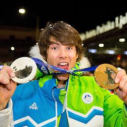 20140224: SLO, Snowboarding - Reception of Zan Kosir after Sochi Winter Olympic Games