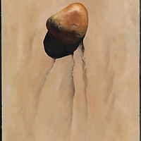 One single stone on the beach...what does it say to you?<br /> SOLD.  Prints available upon request.